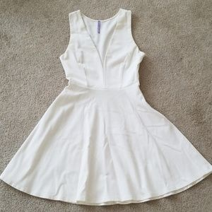 Lulu's Deep V Neck Dress